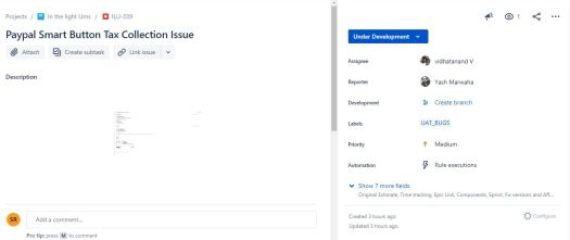 Screenshot of Jira tool