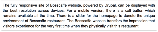 Text about Bosscasse in a box