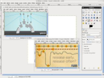 GIMP capture d'écran