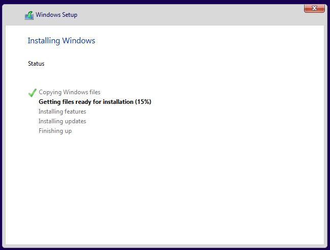 Installing Windows