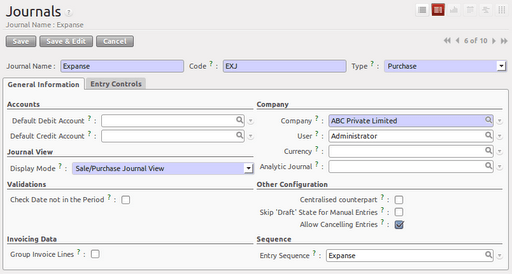 Setting up account module in OpenERP (2/6)
