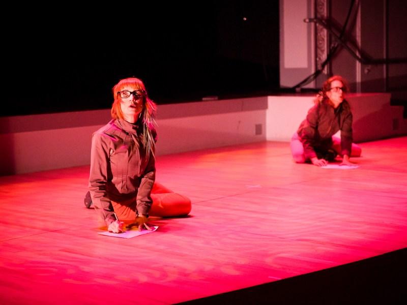 Stephanie Skura & Debra Wanner in Skura's 'Two Huts' Photo by Ian Douglas