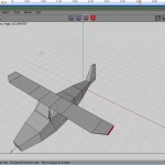 The wings extruded