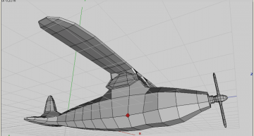 Figure 45: Vertices mode, select and bevel vertex for wing supporter