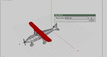 Figure 2: Naming the wings' material