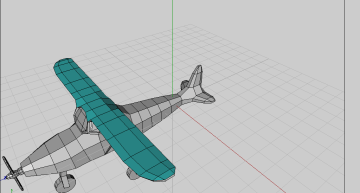 Figure 4: Top wings with separate material identity