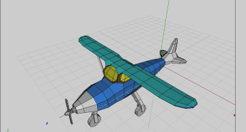 Figure 7: Body of the plane given material