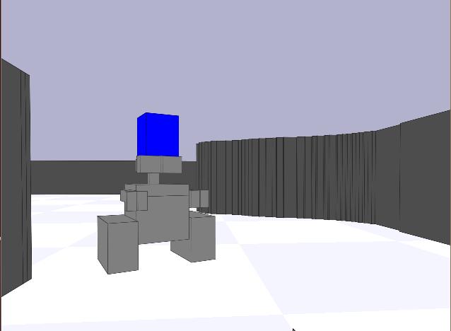 Figure 5: Wall-e like model in stage
