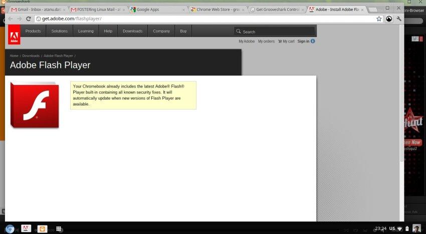 Adobe refutes the missing Flash plugin claim