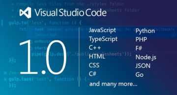 Microsoft releases Visual Studio Code 1.0