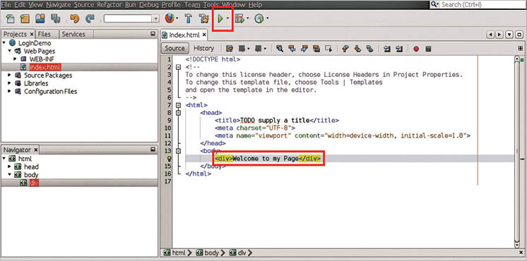 Developing web applications using NetBeans