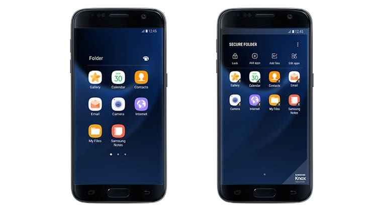 Samsung Secure Folder app on Android
