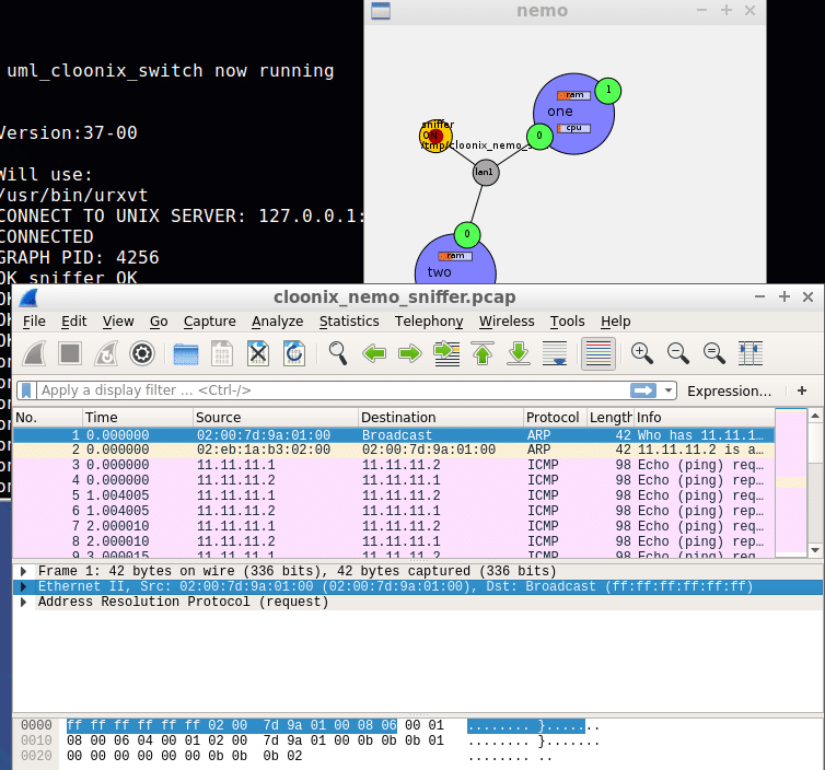 A Quick Look at Cloonix, the Network Simulator - open source