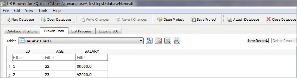 Interfacing Python with the SQLite Transactional Database Engine