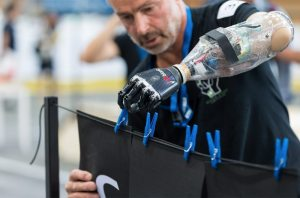 The prosthetic arm from the M.A.S.S. Impact team. (Credit: ETH Zurich)