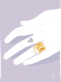 Diamonds are a girl best friend - Detail