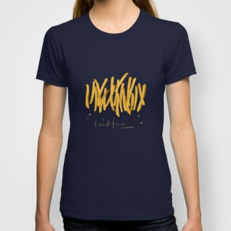 French Fries blue T-shirt