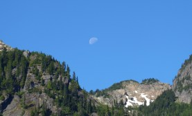 Moon Above the North Cascades