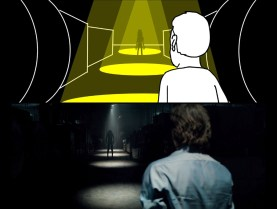 A storyboard for Lights Out by David