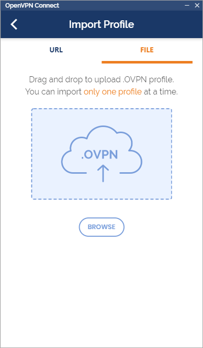 importing an OpenVPN profile