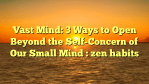 Vast Mind: 3 Ways to Open Beyond the Self-Concern of Our Small Mind