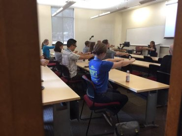 Desk Yoga with Erica Varlese.