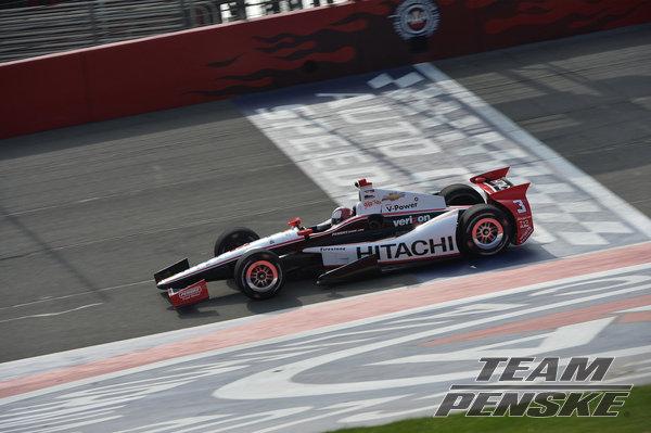 Penske racing Fontana test