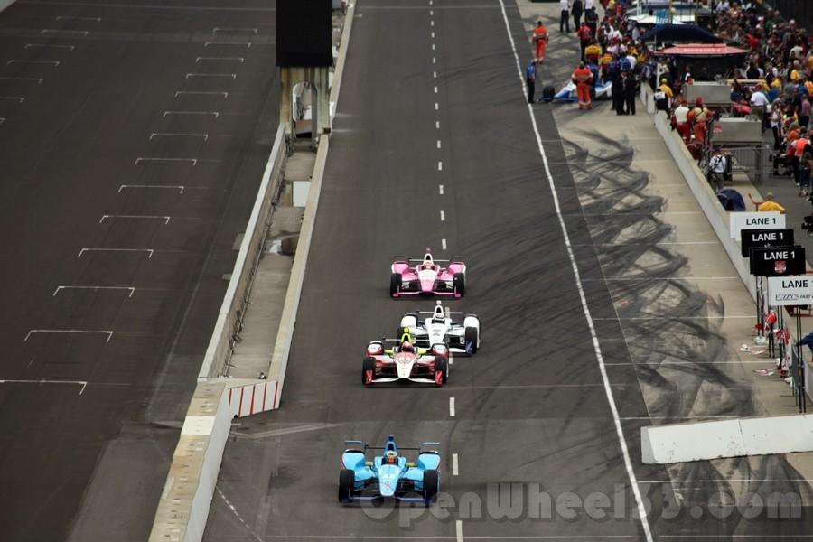 Daly comes down pit lane