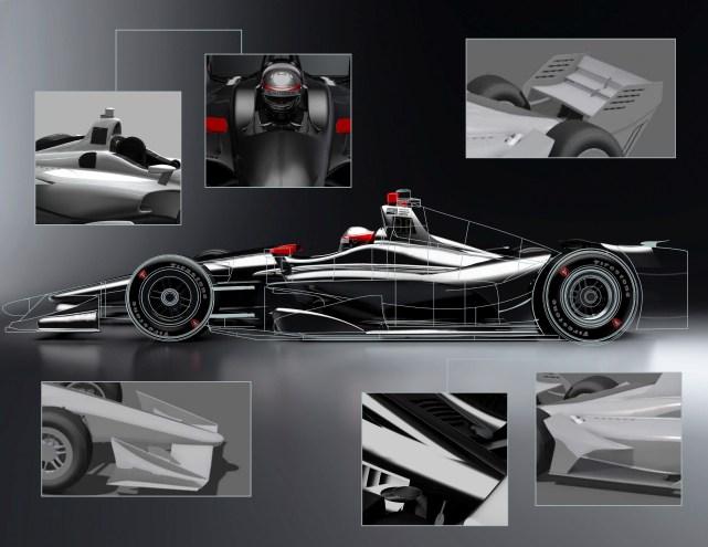 INDYCAR Unveils Images of 2018 Verizon IndyCar Series Car Design - MARCH 17 2018 INDYCAR RENDERING