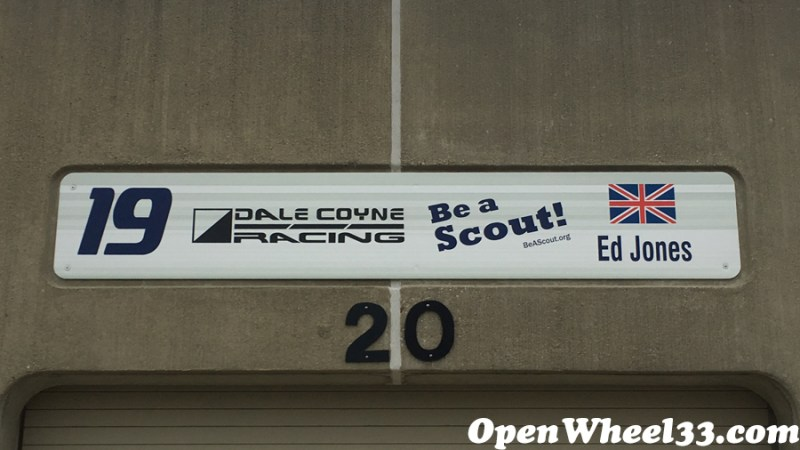 Garage Signs of the 101st Running of the Indianapolis 500 Mile Race - 2017 IMS GARAGE SIGN CAR 19