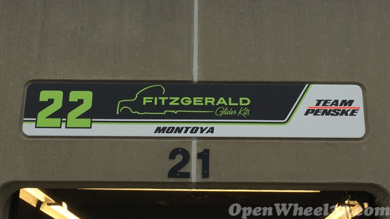 Garage Signs of the 101st Running of the Indianapolis 500 Mile Race - 2017 IMS GARAGE SIGN CAR 22 1