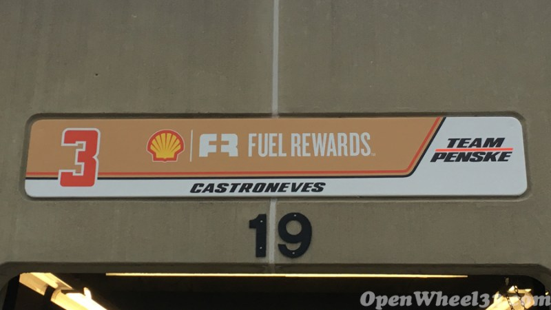Garage Signs of the 101st Running of the Indianapolis 500 Mile Race - 2017 IMS GARAGE SIGN CAR 3