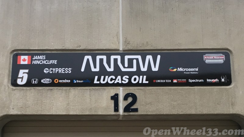 Garage Signs of the 101st Running of the Indianapolis 500 Mile Race - 2017 IMS GARAGE SIGN CAR 5