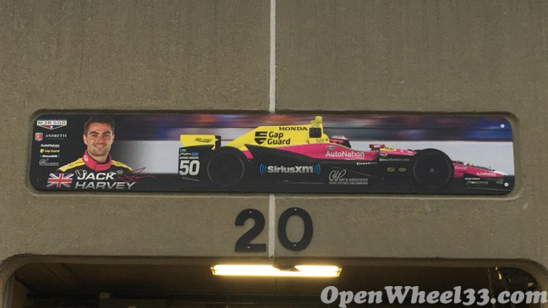 Garage Signs of the 101st Running of the Indianapolis 500 Mile Race - 2017 IMS GARAGE SIGN CAR 50
