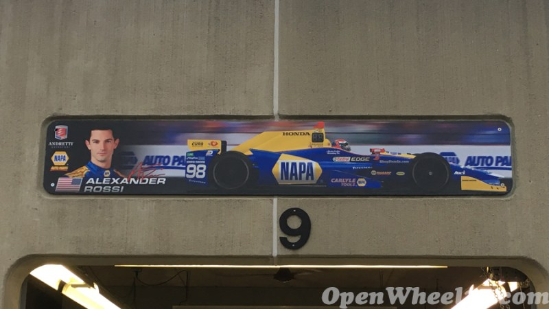 Garage Signs of the 101st Running of the Indianapolis 500 Mile Race - 2017 IMS GARAGE SIGN CAR 98 1