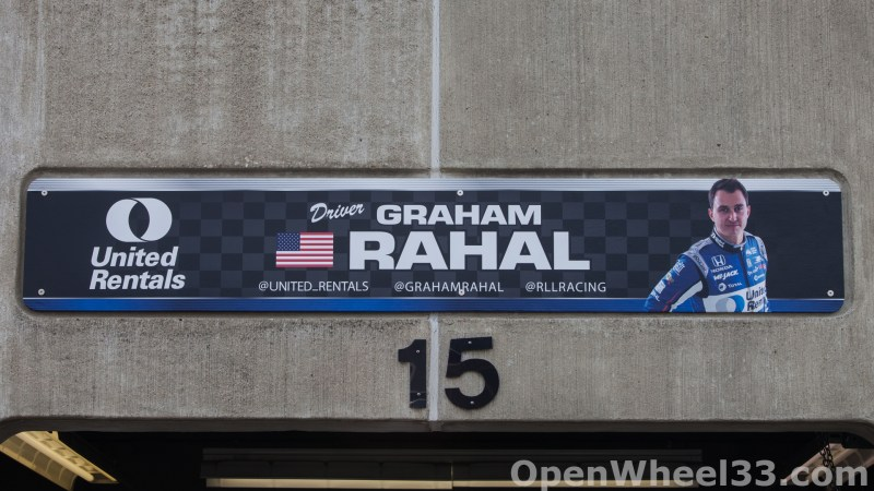 2018 Month of May Garage Signs at Indianapolis Motor Speedway - 2018 INDY 500 GS No. 15