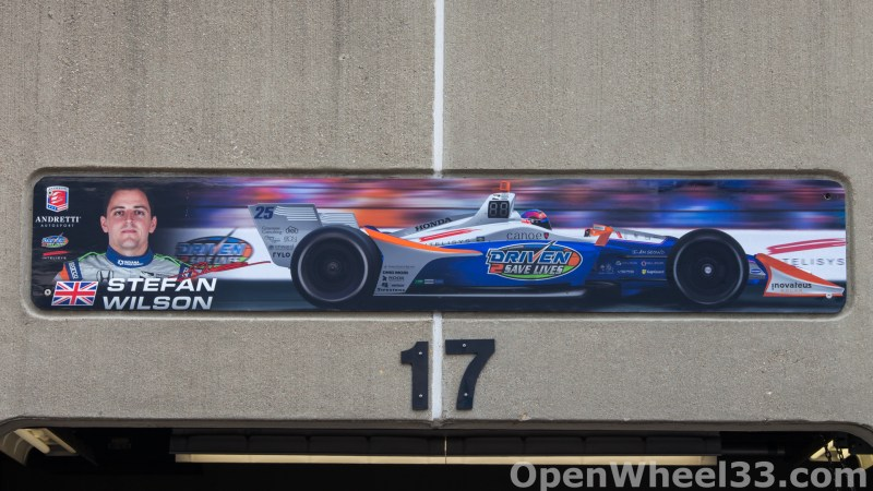2018 Month of May Garage Signs at Indianapolis Motor Speedway - 2018 INDY 500 GS No. 25