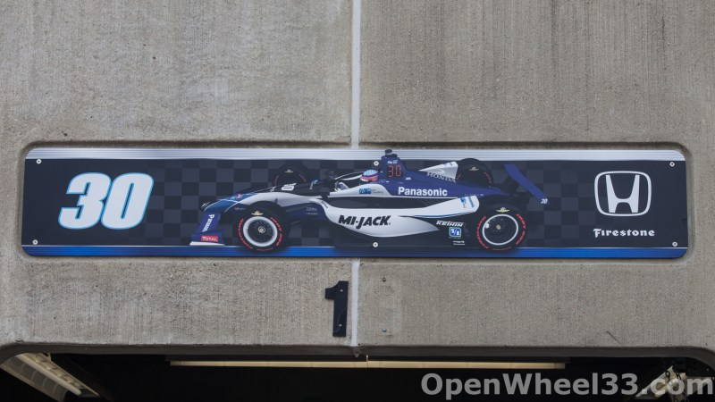 2018 Month of May Garage Signs at Indianapolis Motor Speedway - 2018 INDY 500 GS No. 30t
