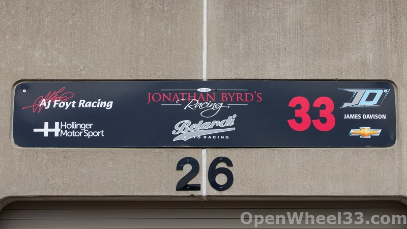 2018 Month of May Garage Signs at Indianapolis Motor Speedway - 2018 INDY 500 GS No. 33