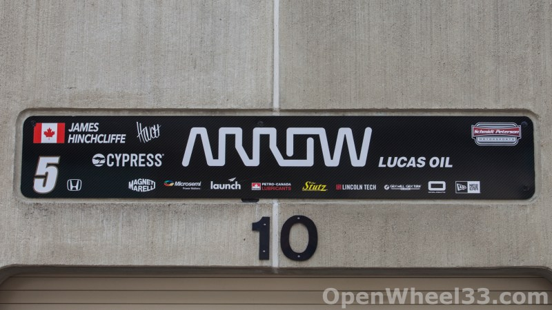 2018 Month of May Garage Signs at Indianapolis Motor Speedway - 2018 INDY 500 GS No. 5