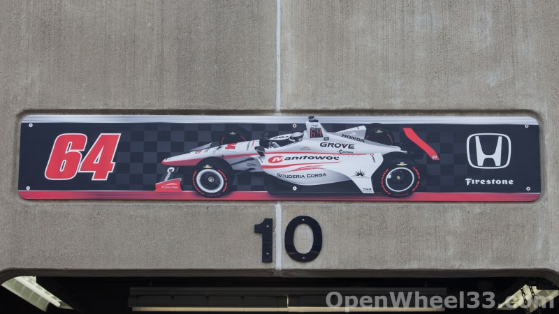 2018 Month of May Garage Signs at Indianapolis Motor Speedway - 2018 INDY 500 GS No. 64t