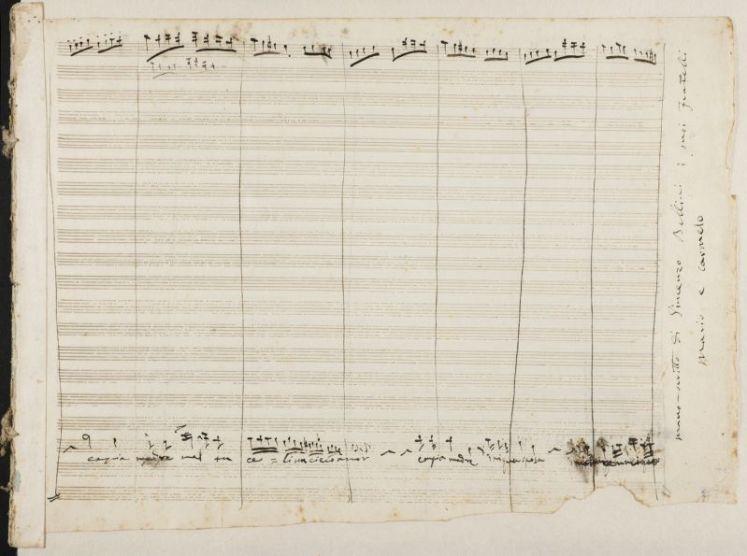 """Il manoscritto belliniano de """"Il Pirata"""", ritrovato negli archivi spagnoli"""