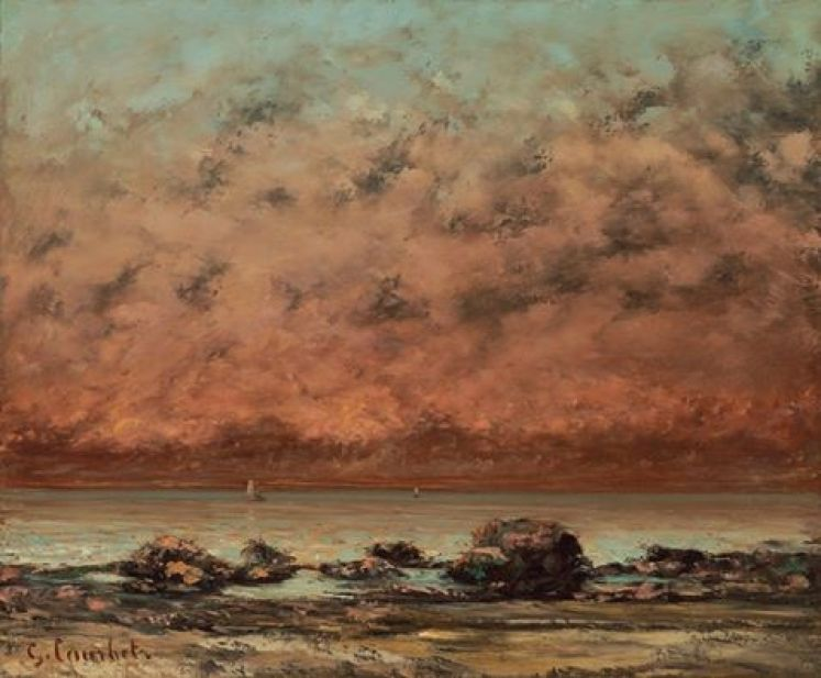 "Gustave Courbet, ""The Black Rocks at Trouville,"" 1865/1866, oil on canvas, National Gallery of Art, Washington, Chester Dale Fund, 2011.51.1"