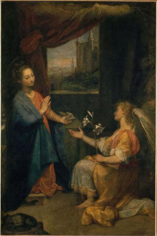 Federico Barocci, Annunciazione - Olio su tela - Città del Vaticano, Pinacoteca dei Musei Vaticani