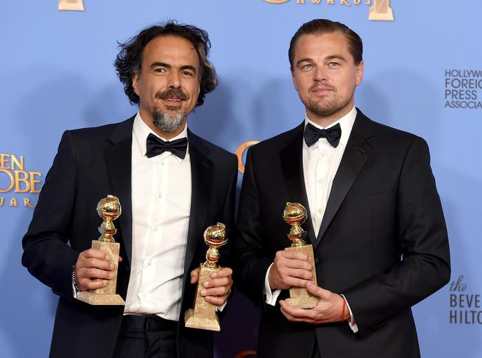 Alejandro Gonzalez Inarritu e Leonardo DiCaprio (Photo by Jordan Strauss/Invision/ANSA/AP)
