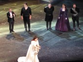 Sonya Yoncheva at curtain call, Otello, The Met