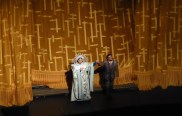 Christine Goerke (Turandot) and Marcelo Alvarez (Calaf) at curtain call