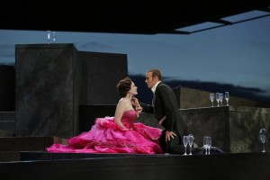 Michael Fabiano: als Alfredo in Santa Fé mit Brenda Rae/Foto Ken Howard/Santa Fé Opera