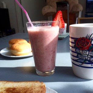 Smoothie banana strawberry