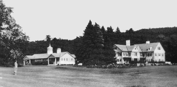 Blowmedown Farm after 1928-9. Casino was remodeled as a residence, and the former Bowling Alley was moved and made into a pavilion.